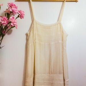 HP! GORGEOUS Slinky Vintage Lace & Silk Mini Dress